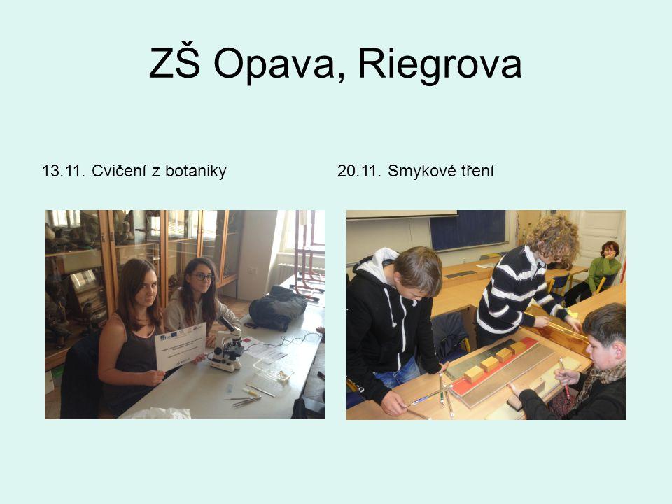 ZŠ Opava, Riegrova 13.11. Cvičení z botaniky20.11. Smykové tření
