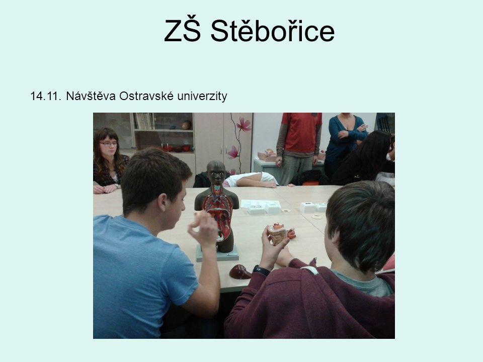 ZŠ Stěbořice 14.11. Návštěva Ostravské univerzity