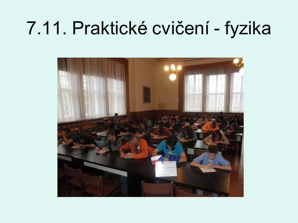 7.11. Praktické cvičení - fyzika