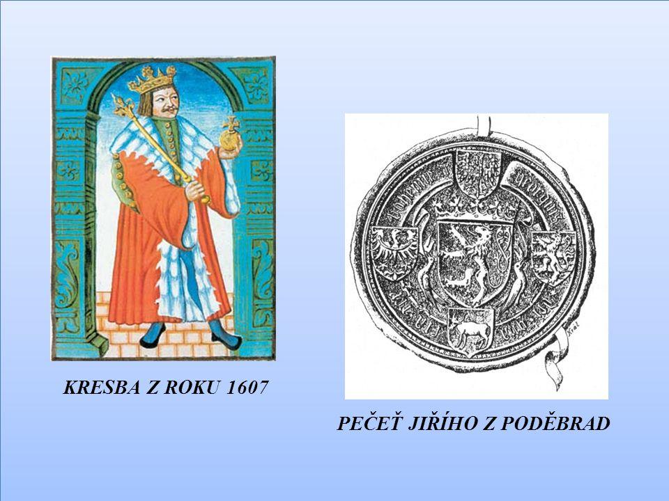 KRESBA Z ROKU 1607 PEČEŤ JIŘÍHO Z PODĚBRAD KRESBA Z ROKU 1607 PEČEŤ JIŘÍHO Z PODĚBRAD