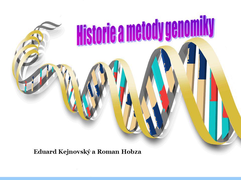 Sekvenování genomů 1995 John Craig Venter sekvenoval první bakteriální genom 1996 první eukaryotický genom (kvasinka) sekvenován John Craig Venter