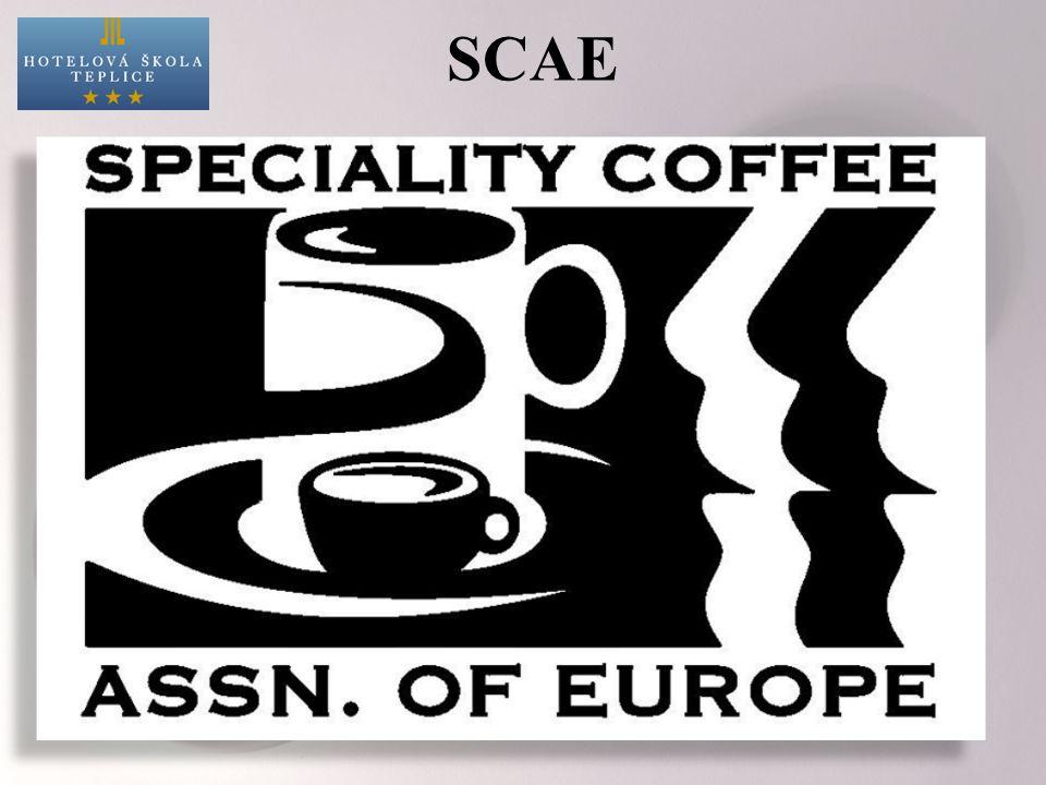 SCAE Činnosti organizace: šíření informací o kávě sdružování kávových nadšenců vzdělávání členů pořádání baristických kurzů organizace profesních soutěží