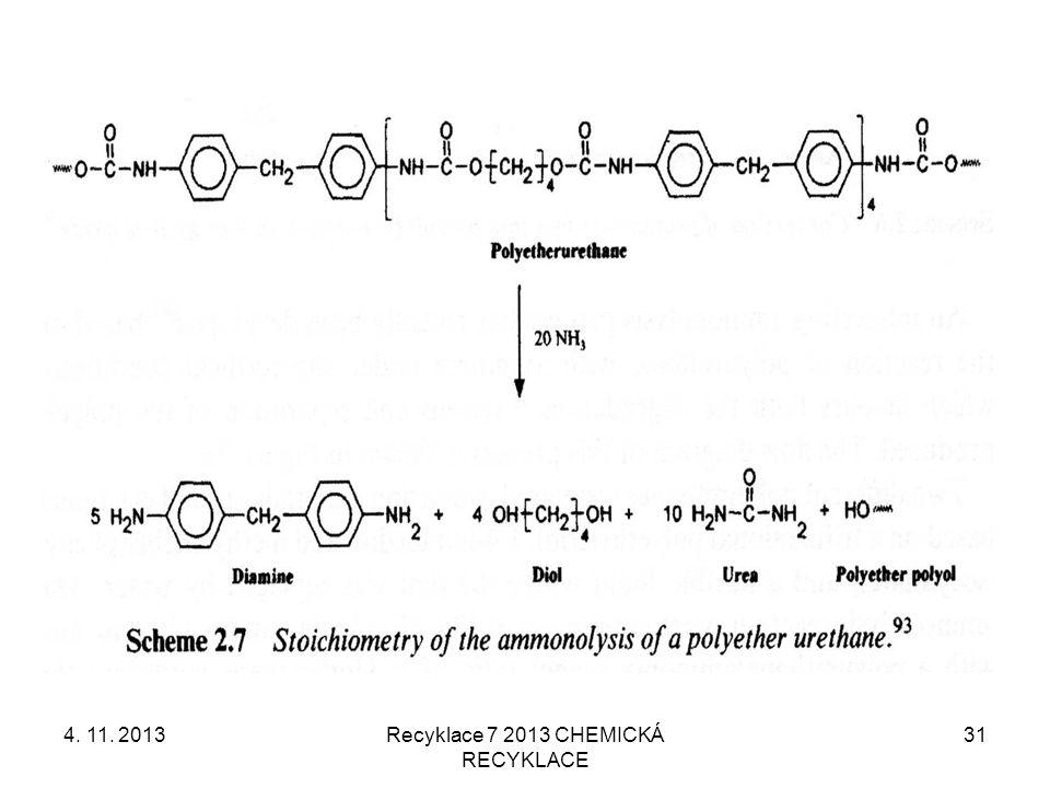 4. 11. 2013Recyklace 7 2013 CHEMICKÁ RECYKLACE 31