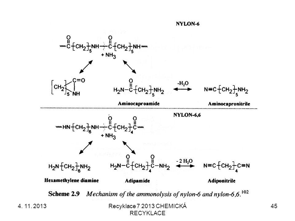 4. 11. 2013Recyklace 7 2013 CHEMICKÁ RECYKLACE 45