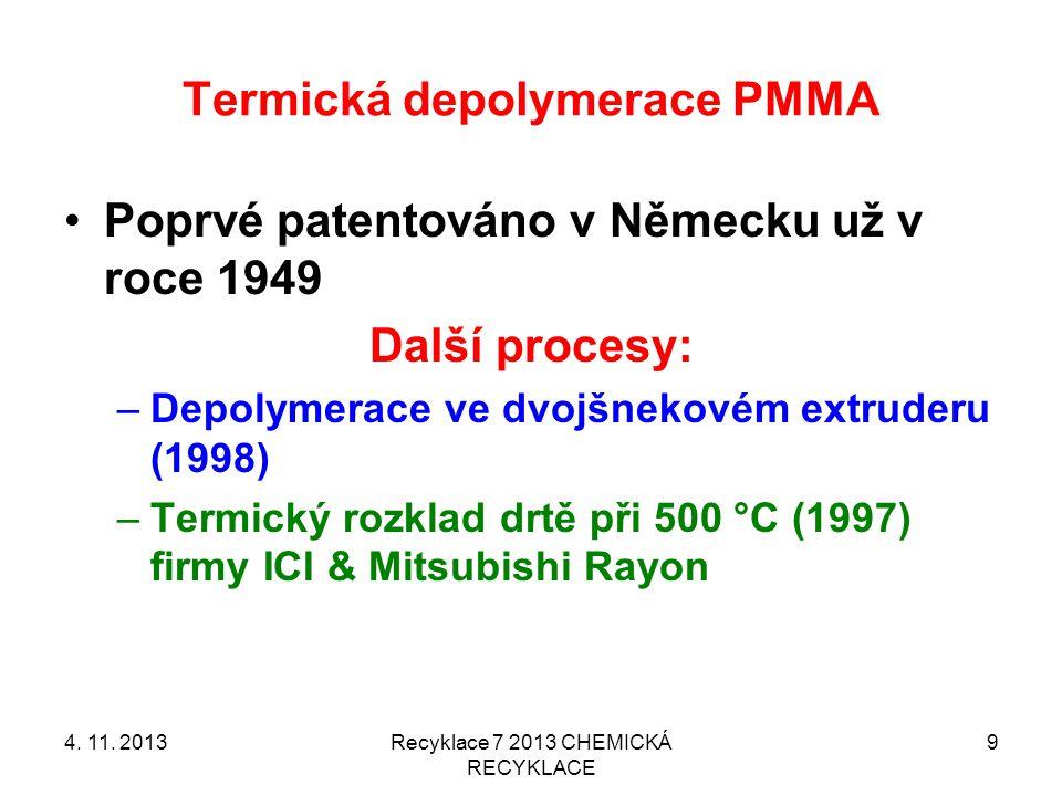 Katalyzovaná depolymerace polystyrénu 4.11.
