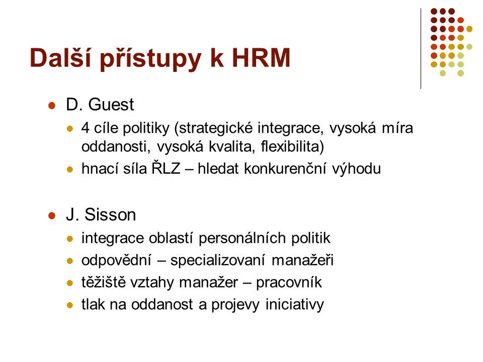 Kritika HRM nedostatky v teorii – rozpory, nekonkrétnost, tendence k simplifikacím pouze rétorika - rozdíly mezi proklamacemi a realizací přílišná ambicióznost .