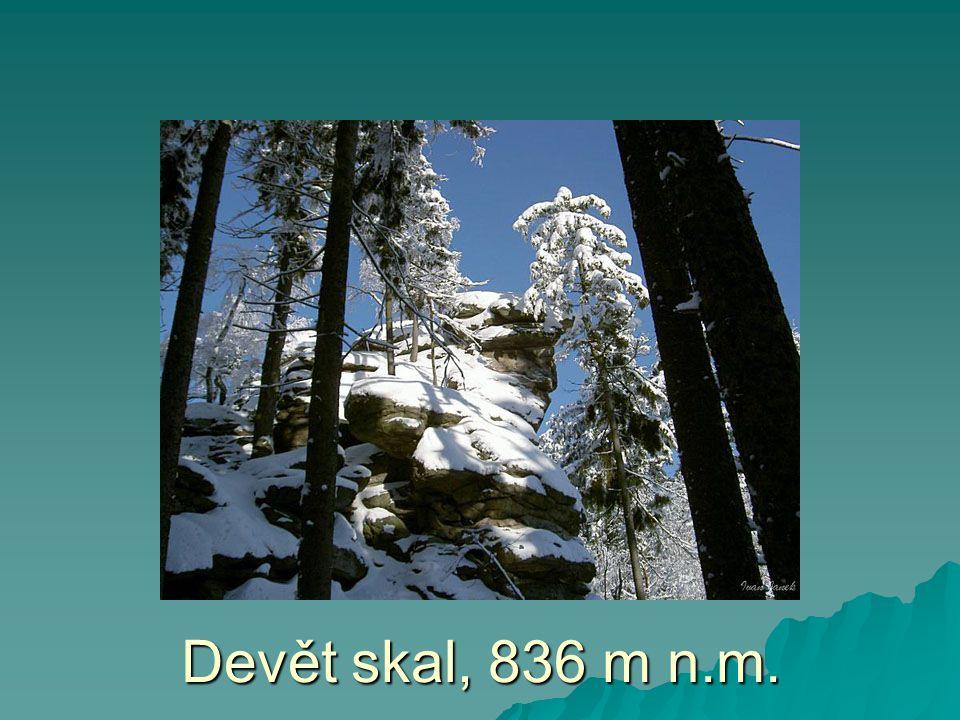 Devět skal, 836 m n.m.