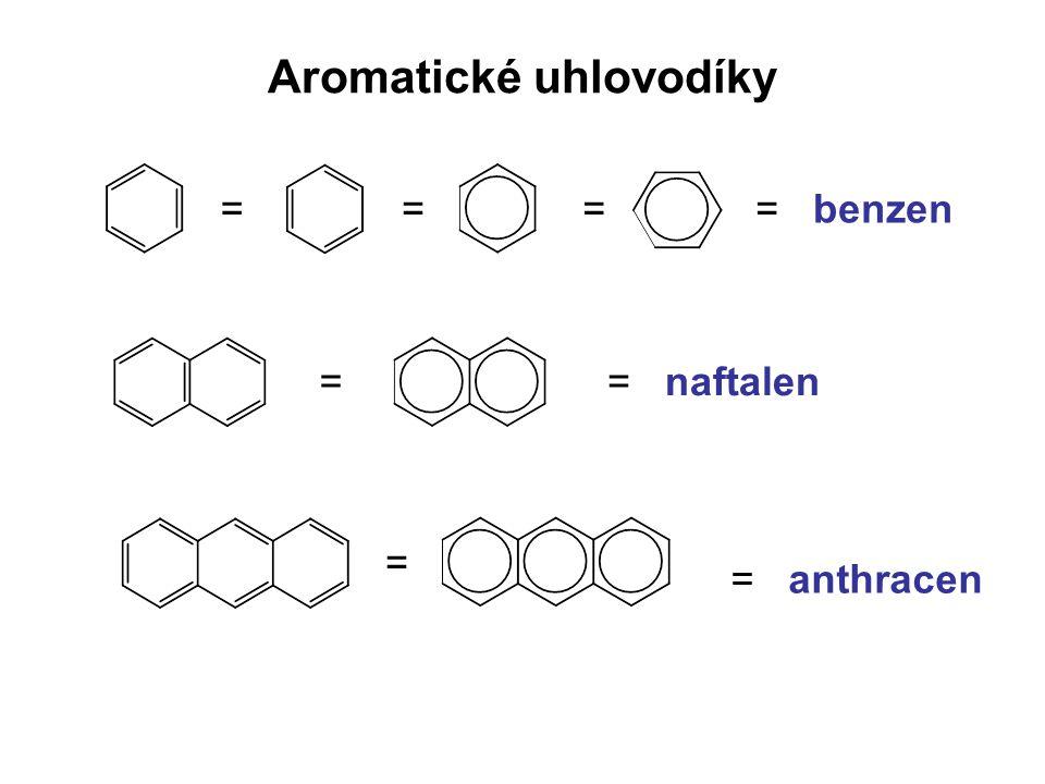 Aromatické uhlovodíky ==== benzen = naftalen= = = anthracen