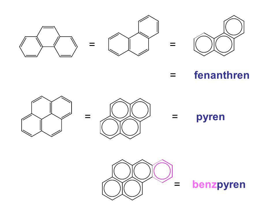== = fenanthren == pyren = benzpyren