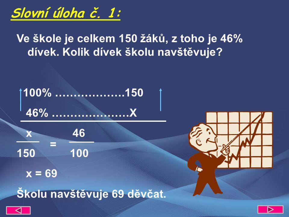 Ve škole je celkem 150 žáků, z toho je 46% dívek. Kolik dívek školu navštěvuje.