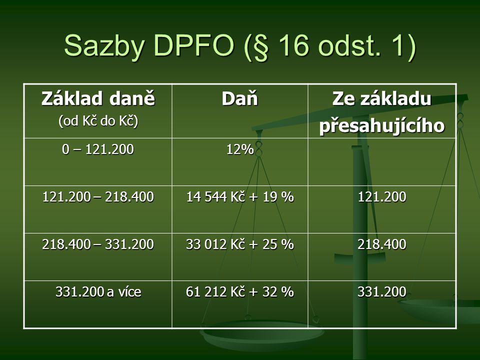 Zálohy na DPFO (§ 38h odst.