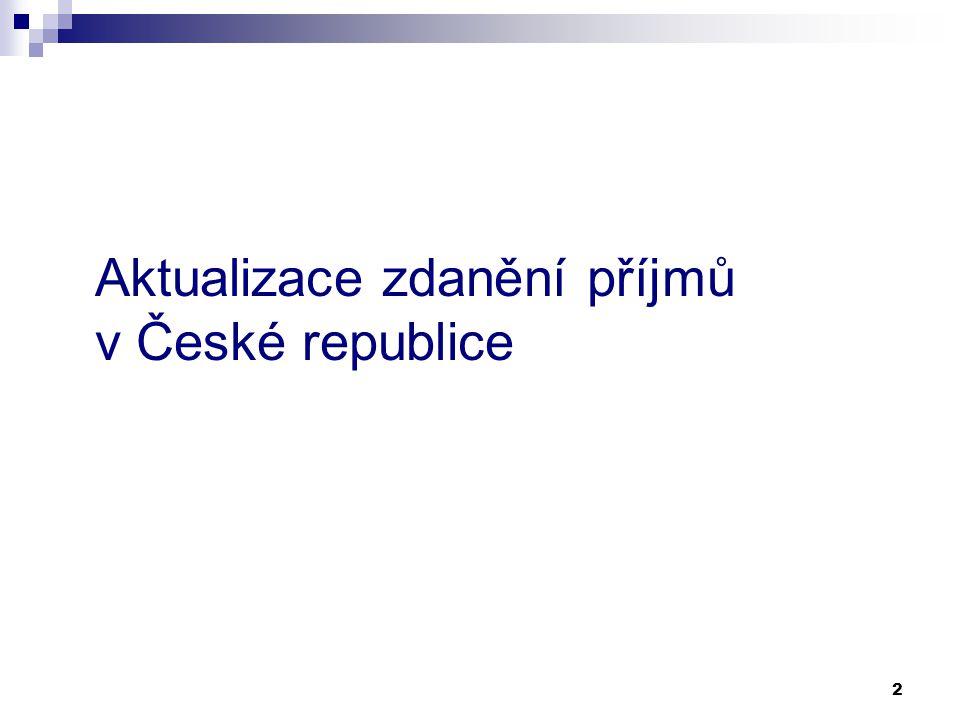 2 Aktualizace zdanění příjmů v České republice