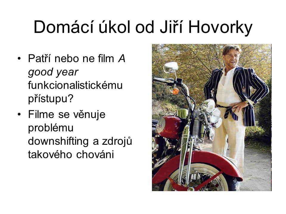 Domácí úkol od Jiří Hovorky Patří nebo ne film A good year funkcionalistickému přístupu.