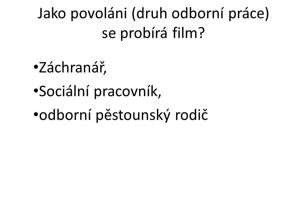 Jako povoláni (druh odborní práce) se probírá film.