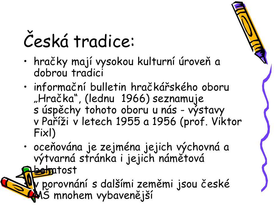 """Česká tradice: hračky mají vysokou kulturní úroveň a dobrou tradici informační bulletin hračkářského oboru """"Hračka"""", (lednu 1966) seznamuje s úspěchy"""