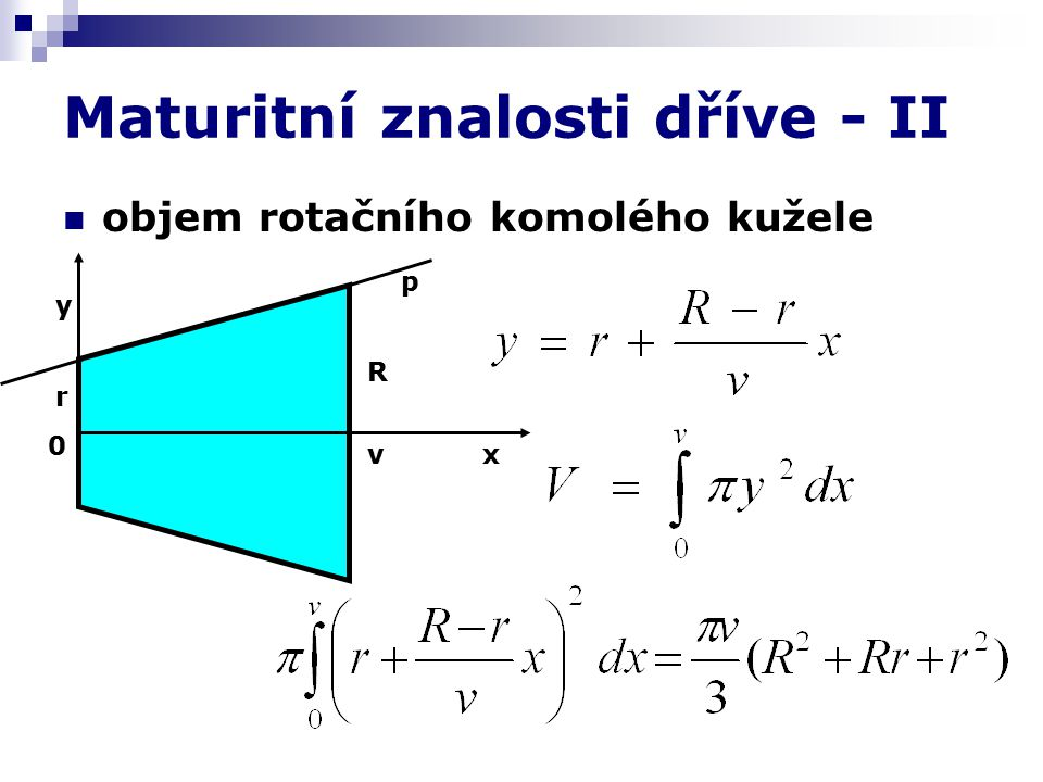 Maturitní znalosti dříve - III Matematická indukce A dnes ?? Z matematiky se nematuruje…