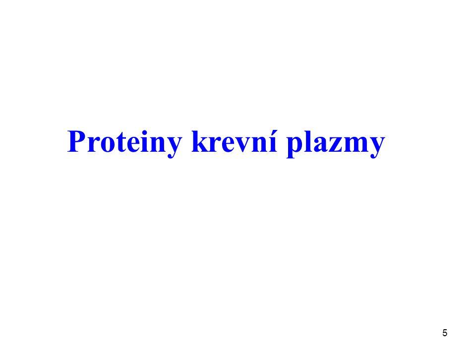 6 Nejvýznamější proteiny krevní plazmy Transportní: Albumin, transferin, ceruloplasmin, haptoglobin, hemopexin,prealbumin, RBG (retinol binding globulin), TBG (thyroid binding globulin), transkortin, SHBG (sex hormone binding globulin) transcobalaminy Obranné funkce: Imunoglobuliny, proteiny komplementu, CRP (C-reaktivní protein) Proteiny spojené se zánětem: CRP,C3, C4, C1 INA, alfa 1-antitrypsin, alpha 1- antichymotrypsin, alfa 1-kyselý glykoprotein, haptoglobin, ceruloplasmin, fibrinogen ad.