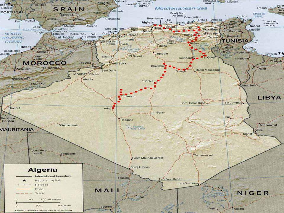 Alžírská demokratická a lidová republika Je stát, který leží na severu Afriky.