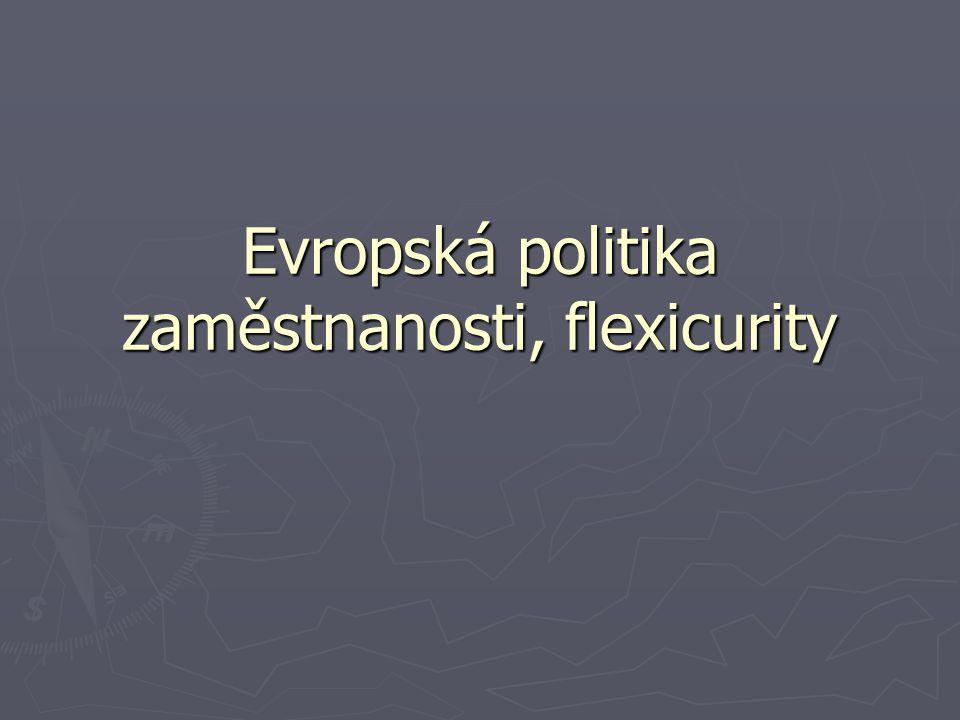 """Termín flexicurity ► """" ► """"Flexicurity je složený výraz, který v sobě zahrnuje dva zdánlivě protichůdné výrazy – flexibilitu a ochranu (angl."""