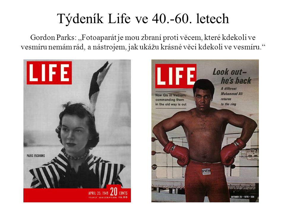 """Týdeník Life ve 40.-60. letech Gordon Parks: """"Fotoaparát je mou zbraní proti věcem, které kdekoli ve vesmíru nemám rád, a nástrojem, jak ukážu krásné"""