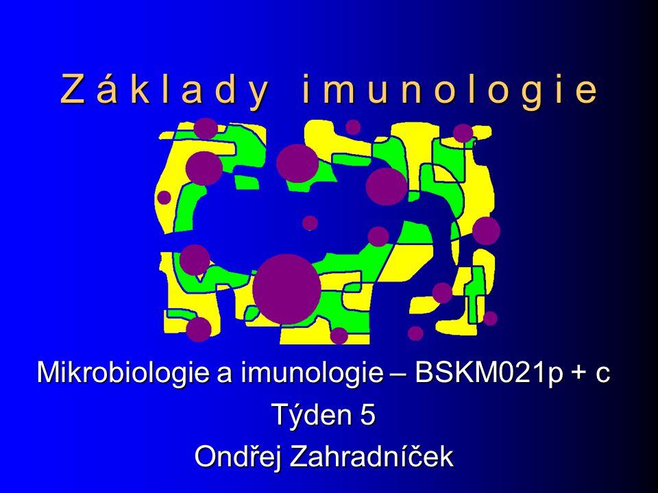 Z á k l a d y i m u n o l o g i e Mikrobiologie a imunologie – BSKM021p + c Týden 5 Ondřej Zahradníček
