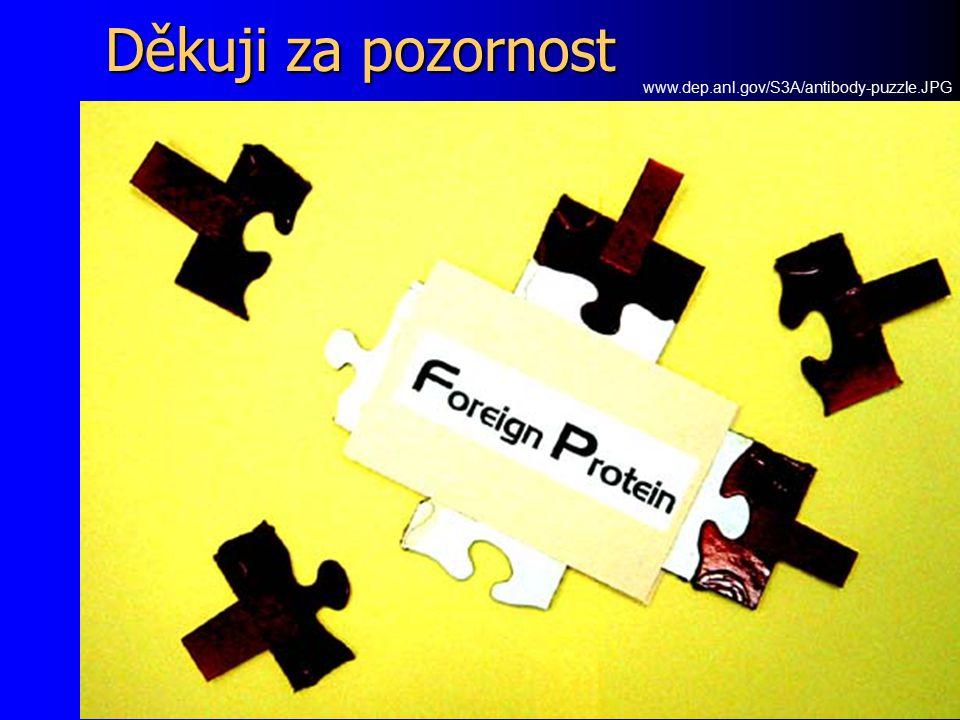 Děkuji za pozornost www.dep.anl.gov/S3A/antibody-puzzle.JPG