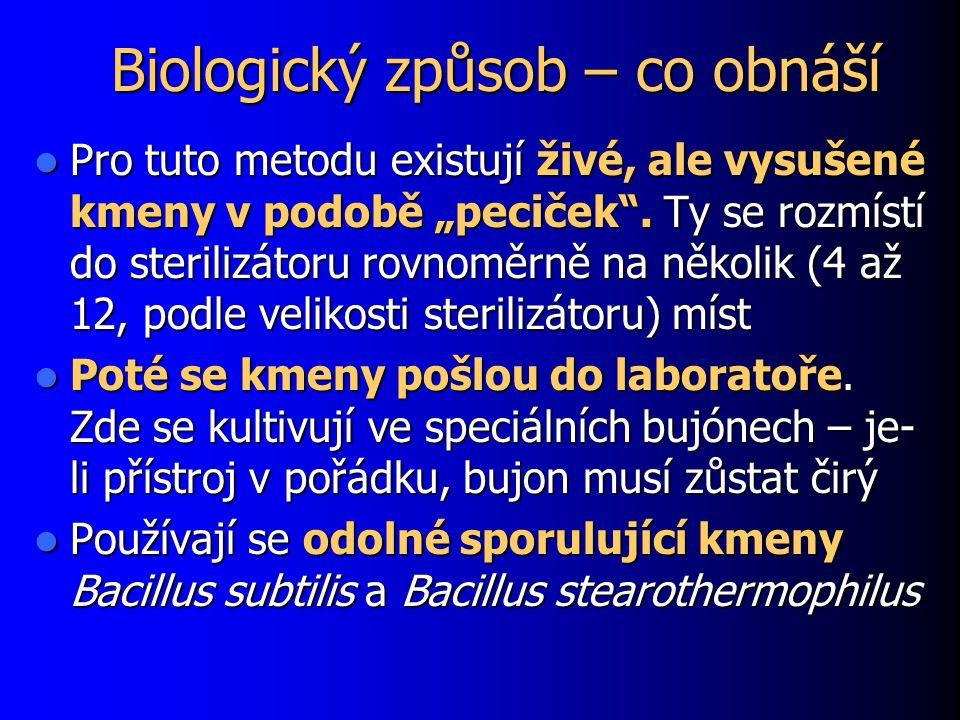 """Biologický způsob – co obnáší Pro tuto metodu existují živé, ale vysušené kmeny v podobě """"peciček ."""