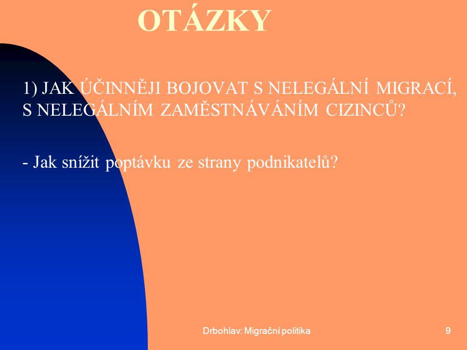 Drbohlav: Migrační politika20 TOLERANCE INFORMOVANOST SPOLUPRÁCE