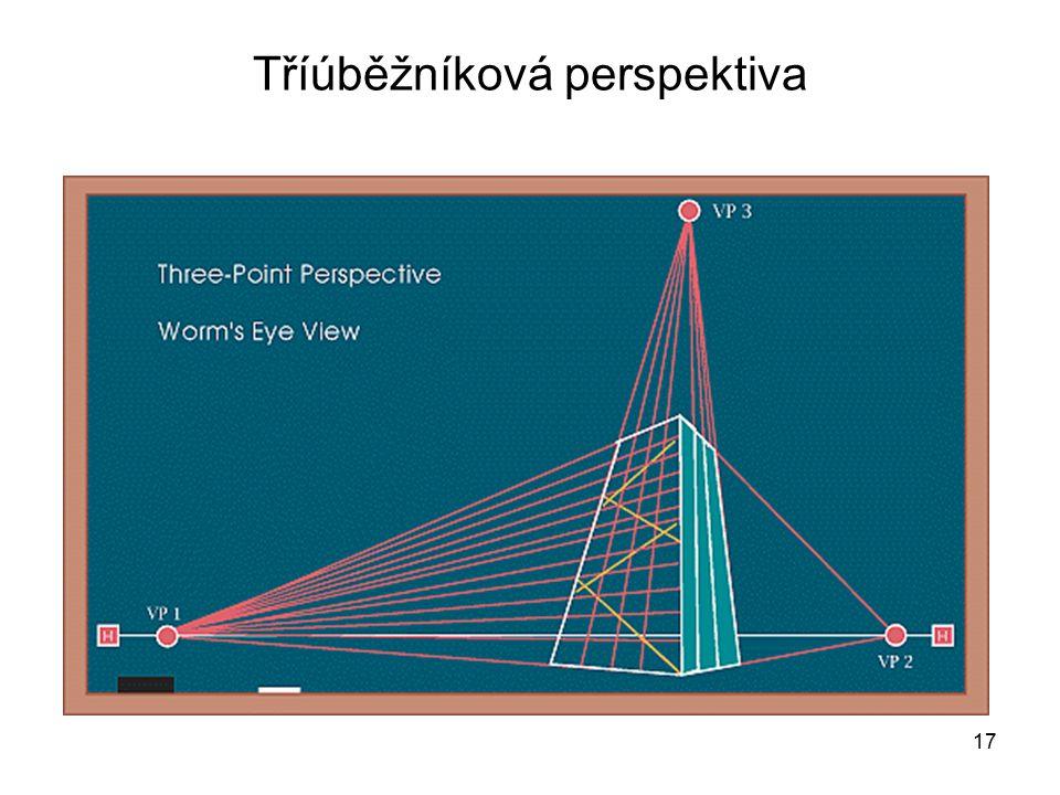 17 Tříúběžníková perspektiva