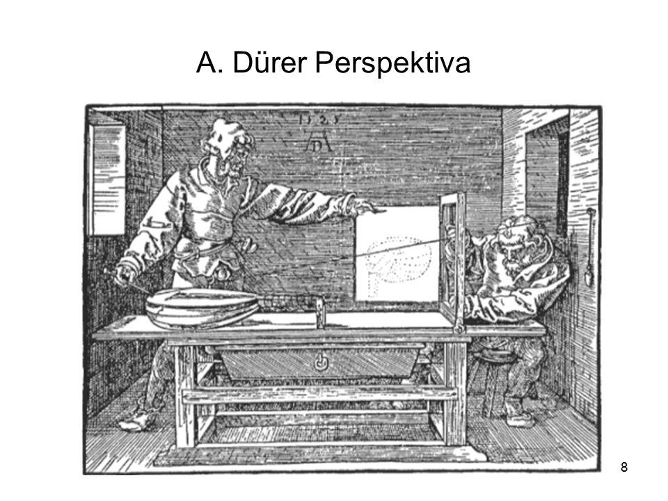 19 Používané názvy Jednoúběžníková perspektiva – interiery, letecké snímky, snímky z výšky – také průčelná perspektiva, příklad fotografie s osou fotoaparátu vodorovnou, kolmou k průčelné rovině objektu (geom.