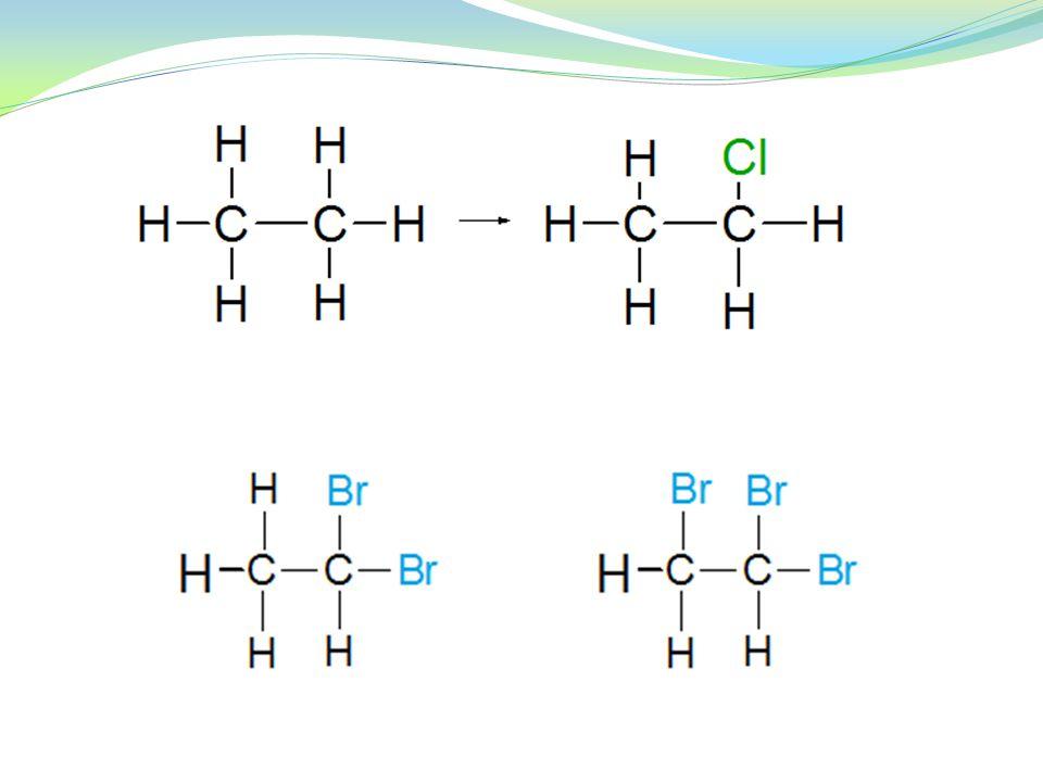 Příprava Substituce 1) radikálová S R – u alkanů, alkenů a aromatických uhlov.