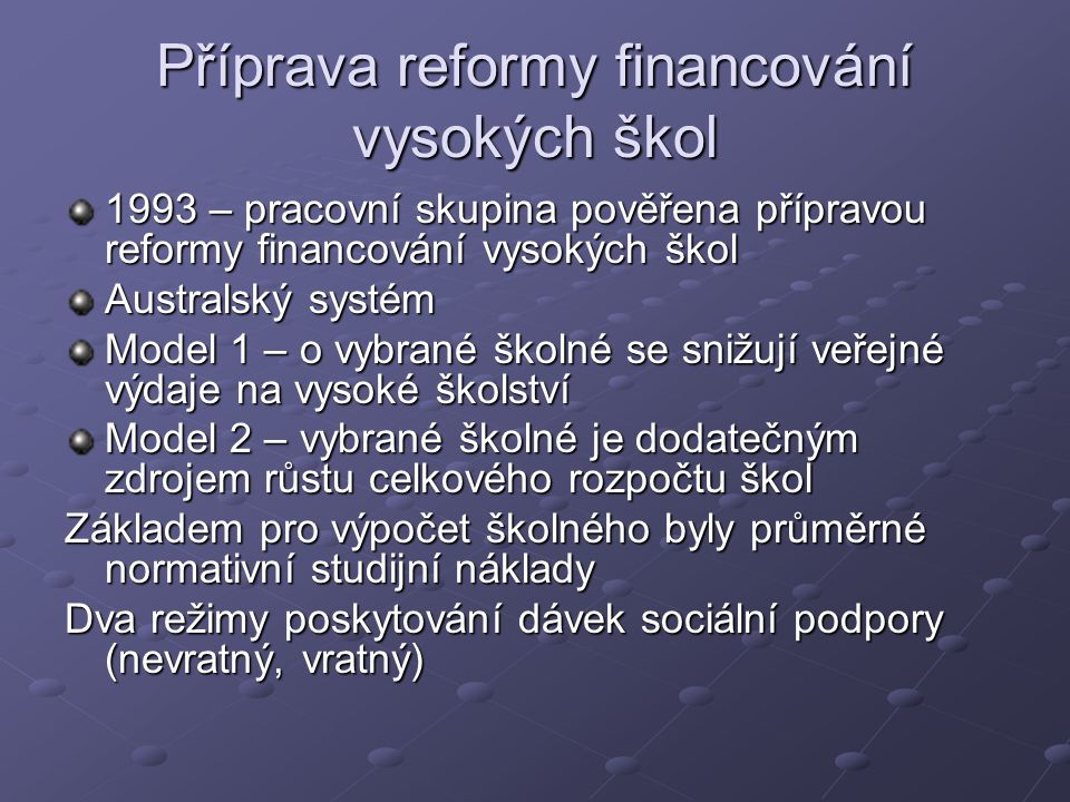 Financování Součástí rozpočtové organizace financované z kapitoly Ministerstva
