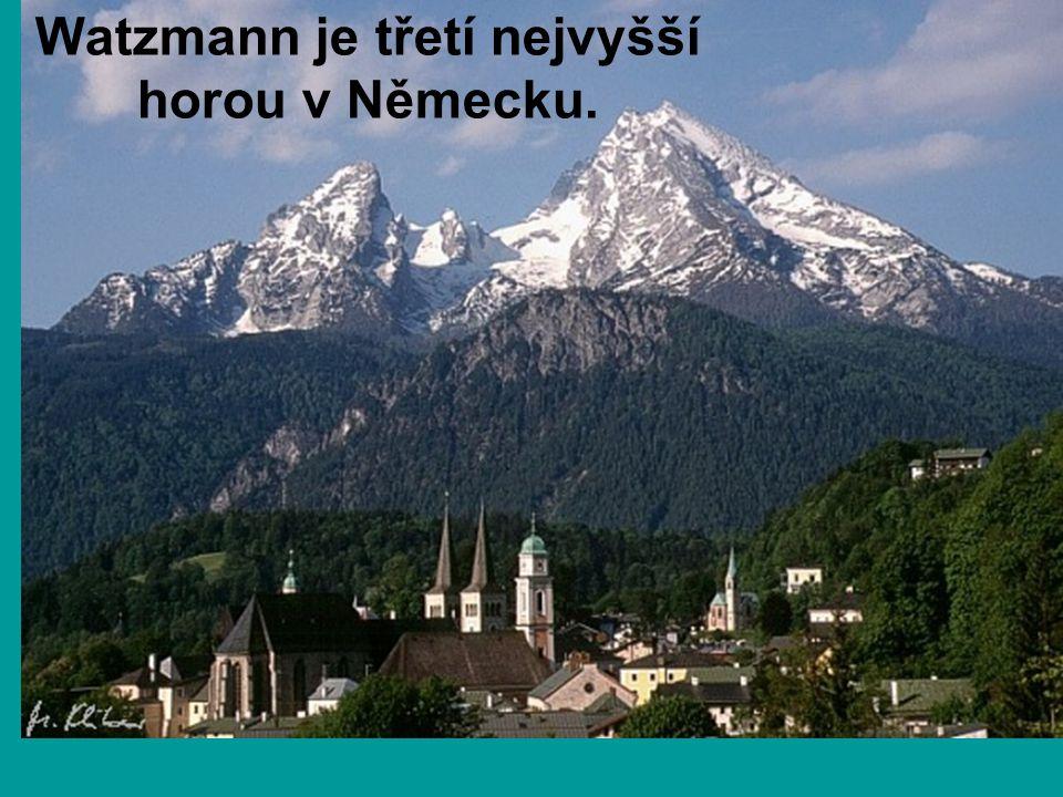 Watzmann je třetí nejvyšší horou v Německu.