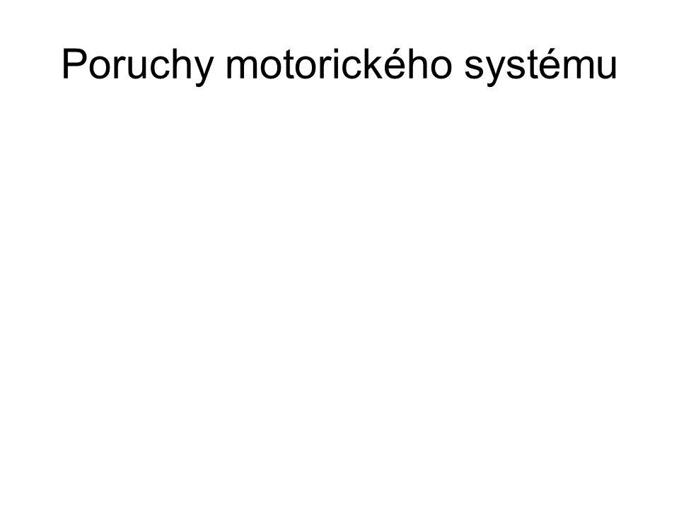 Poruchy motorického systému