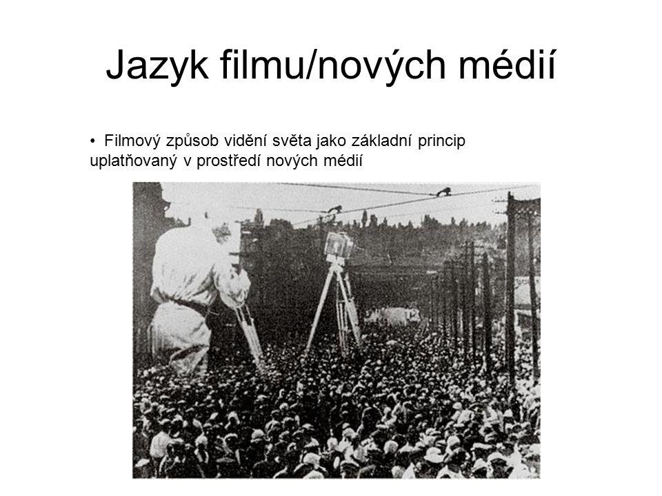 Jazyk filmu/nových médií Filmový způsob vidění světa jako základní princip uplatňovaný v prostředí nových médií