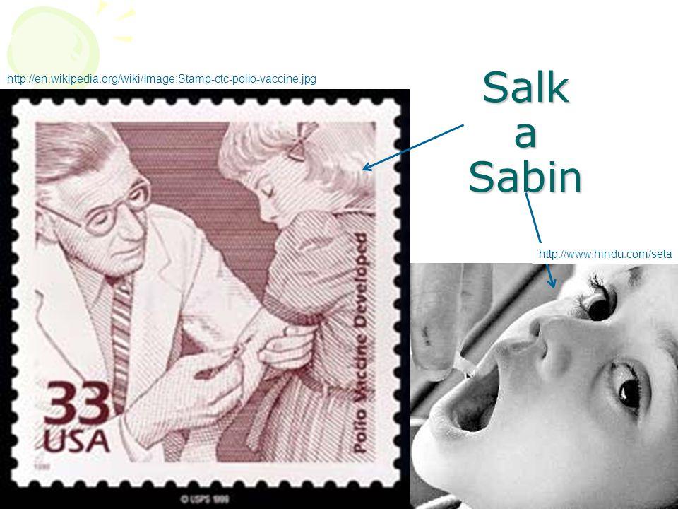47 Salk a Sabin http://www.hindu.com/seta http://en.wikipedia.org/wiki/Image:Stamp-ctc-polio-vaccine.jpg