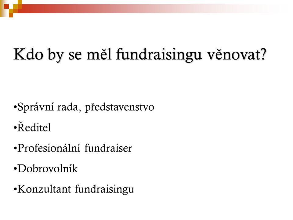 Co víme o individuálních dárcích.