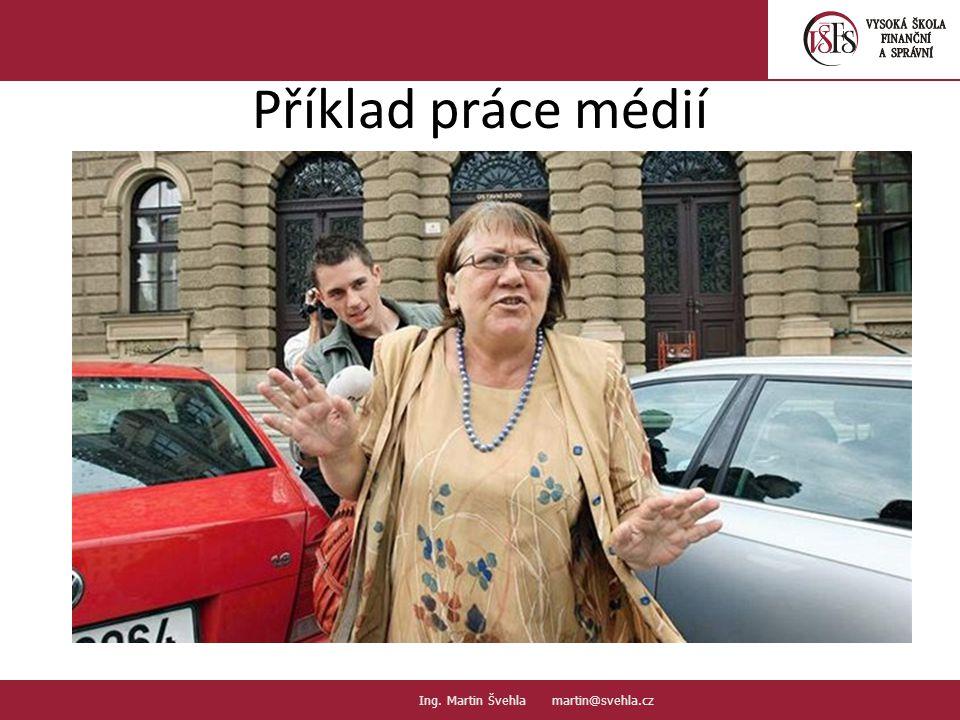 3.3. PaedDr.Emil Hanousek,CSc., 14002@mail.vsfs.cz :: Ing. Martin Švehla martin@svehla.cz Příklad práce médií