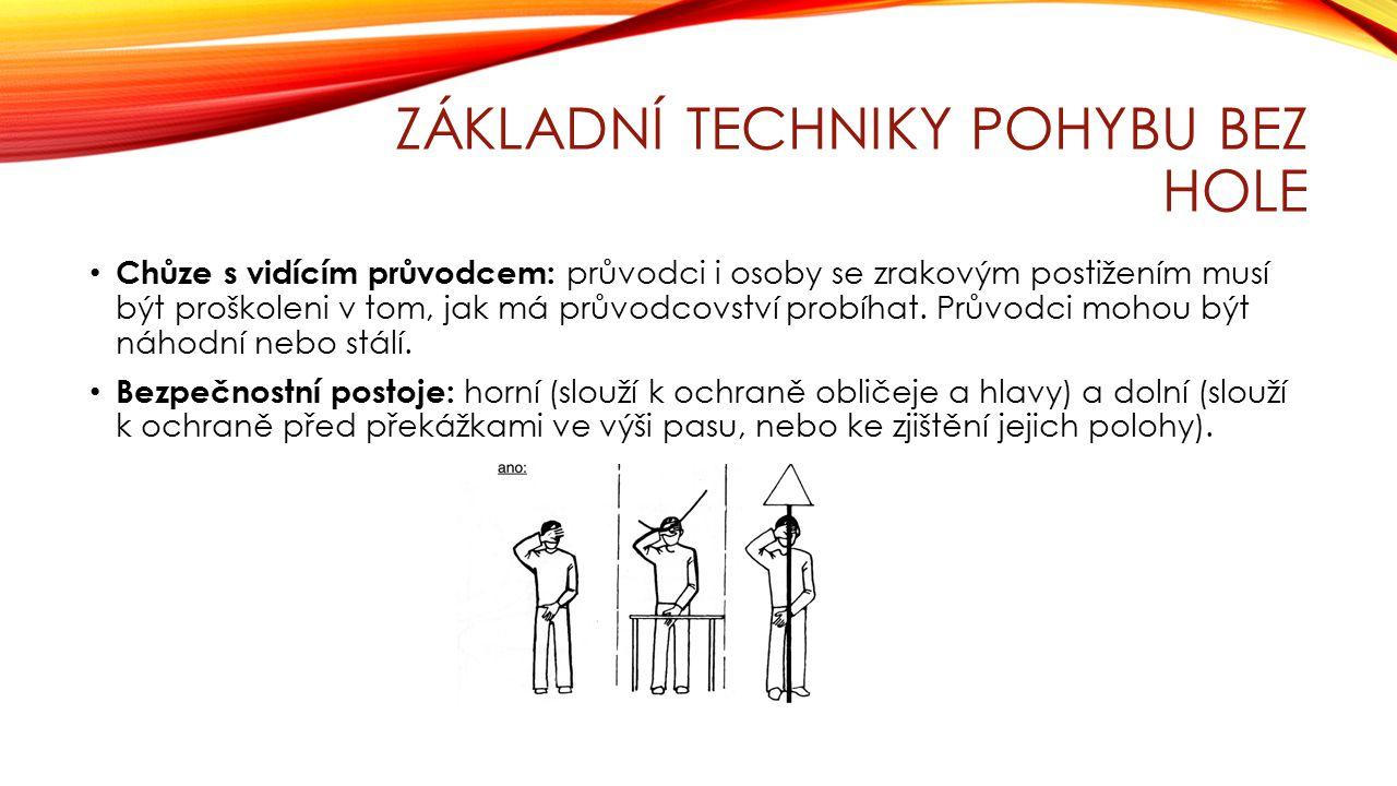 ZÁKLADNÍ TECHNIKY POHYBU BEZ HOLE Trailing: pro pohyb ve známém interiéru.