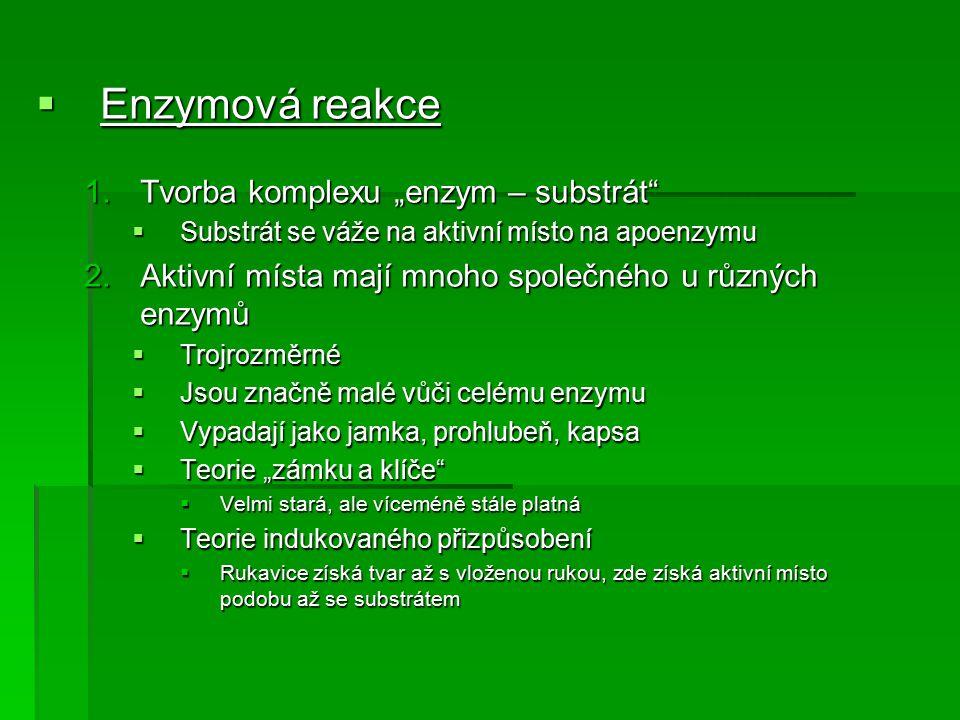 Fyzikální a fyzikálně-chemické metody  Fluoroscenční metody  Založeno na tvorbě fluoreskující sloučeniny v enzymové reakci  až 2x citlivější než spektrofotometrické metody  Použití pro oxidační reakce:  reakce závislé na NAD +, NADP +  Pro hydrolytické reakce:  Nefluoreskující ester může poskytnout fluoreskující alkohol nebo amin  Nevýhody: – vysoce absorbujícími molekulami, které odnímají energii  Zhášení fluorescence – vysoce absorbujícími molekulami, které odnímají energii – fluoreskují ve stejné oblasti jako ta jež chceme stanovit  Interferující látky – fluoreskují ve stejné oblasti jako ta jež chceme stanovit Fyzikální a fyzikálně-chemické metody