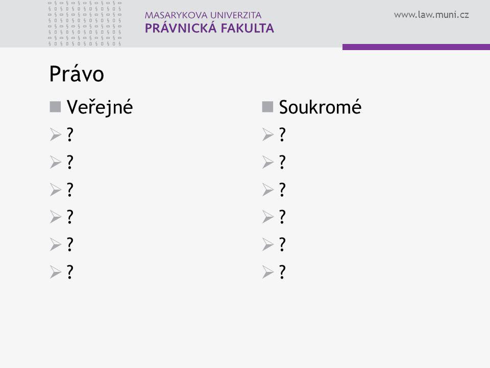 www.law.muni.cz Právo Veřejné  ? Soukromé  ?