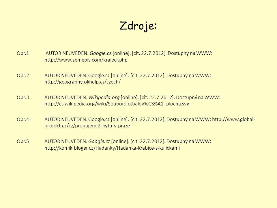 Zdroje: Obr.1 AUTOR NEUVEDEN. Google.cz [online]. [cit. 22.7.2012]. Dostupný na WWW: http://www.zemepis.com/krajecr.php Obr.2AUTOR NEUVEDEN. Google.cz