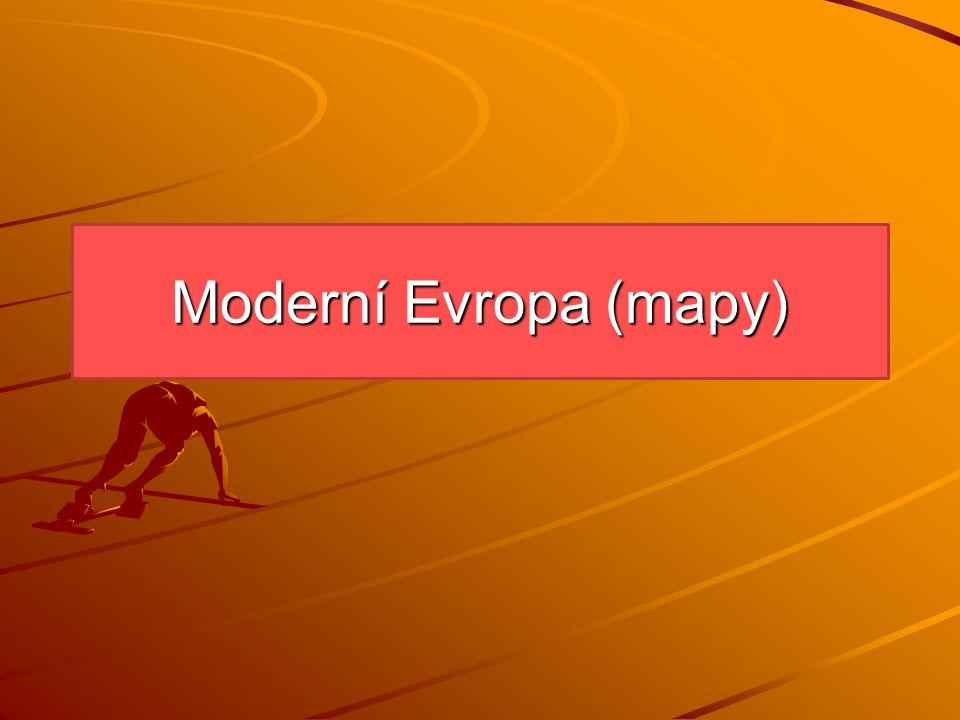 Moderní Evropa (mapy)