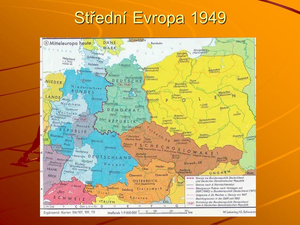 Střední Evropa 1949