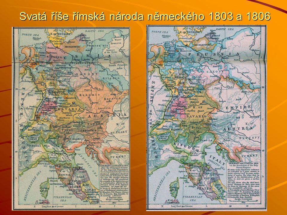 Svatá říše římská národa německého 1803 a 1806