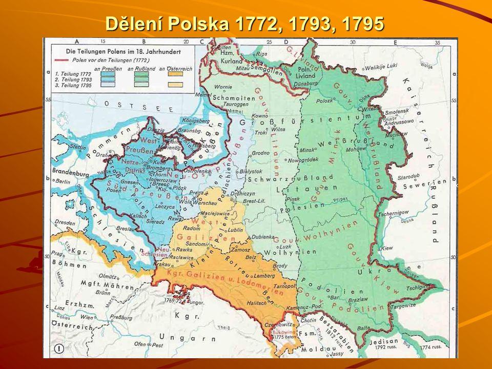 Dělení Polska 1772, 1793, 1795