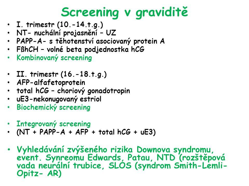 Screening v graviditě I.