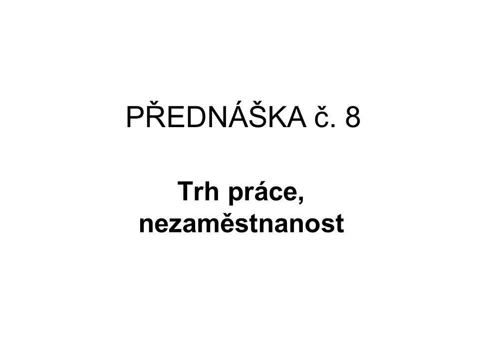 TRH PRÁCE V ČR –metodika, definice Nezaměstnanost a vznik trhu práce v České republice byly od počátku 90.