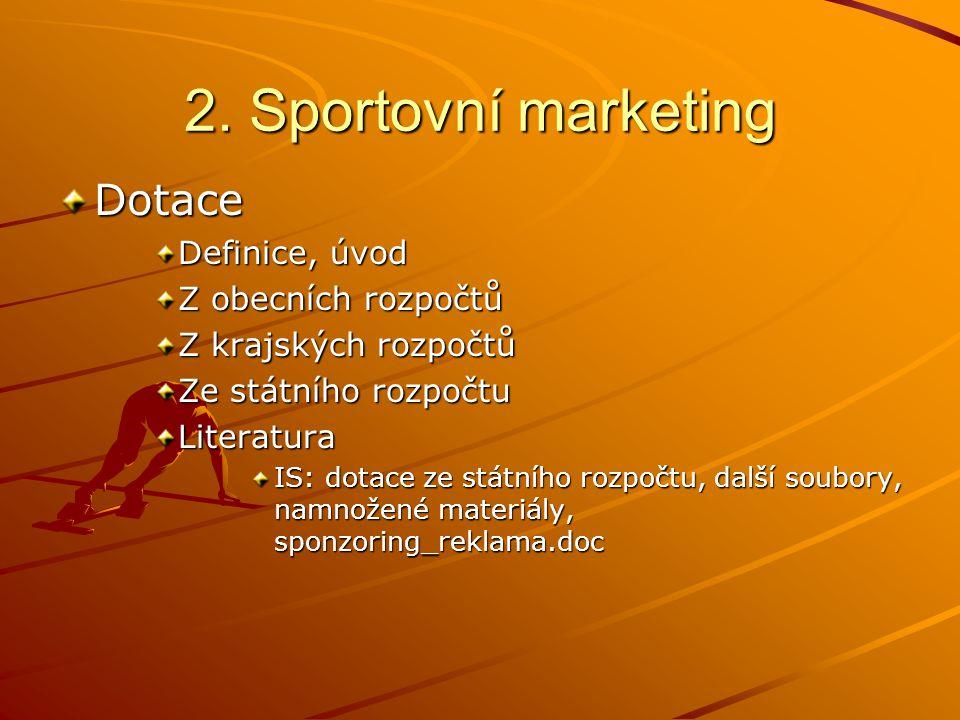 2.Sportovní marketing Další témata Škoda-auto NHL vs.