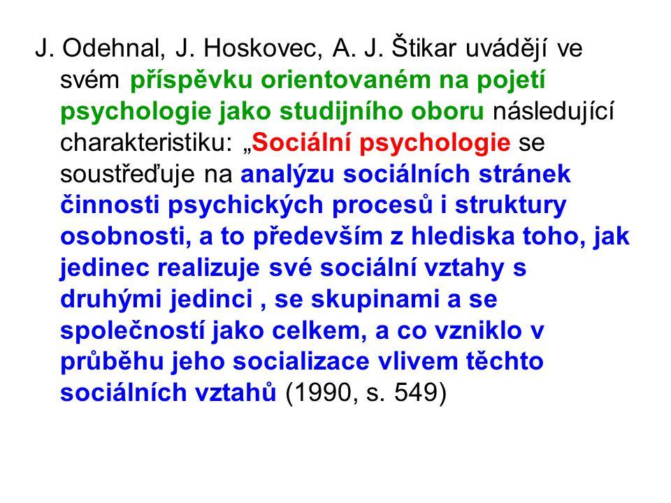 J. Odehnal, J. Hoskovec, A. J.